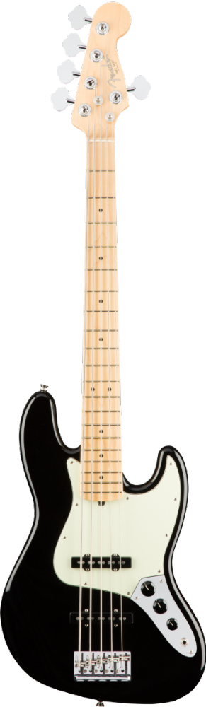 Fender American Pro Jazz Bass V Maple Black